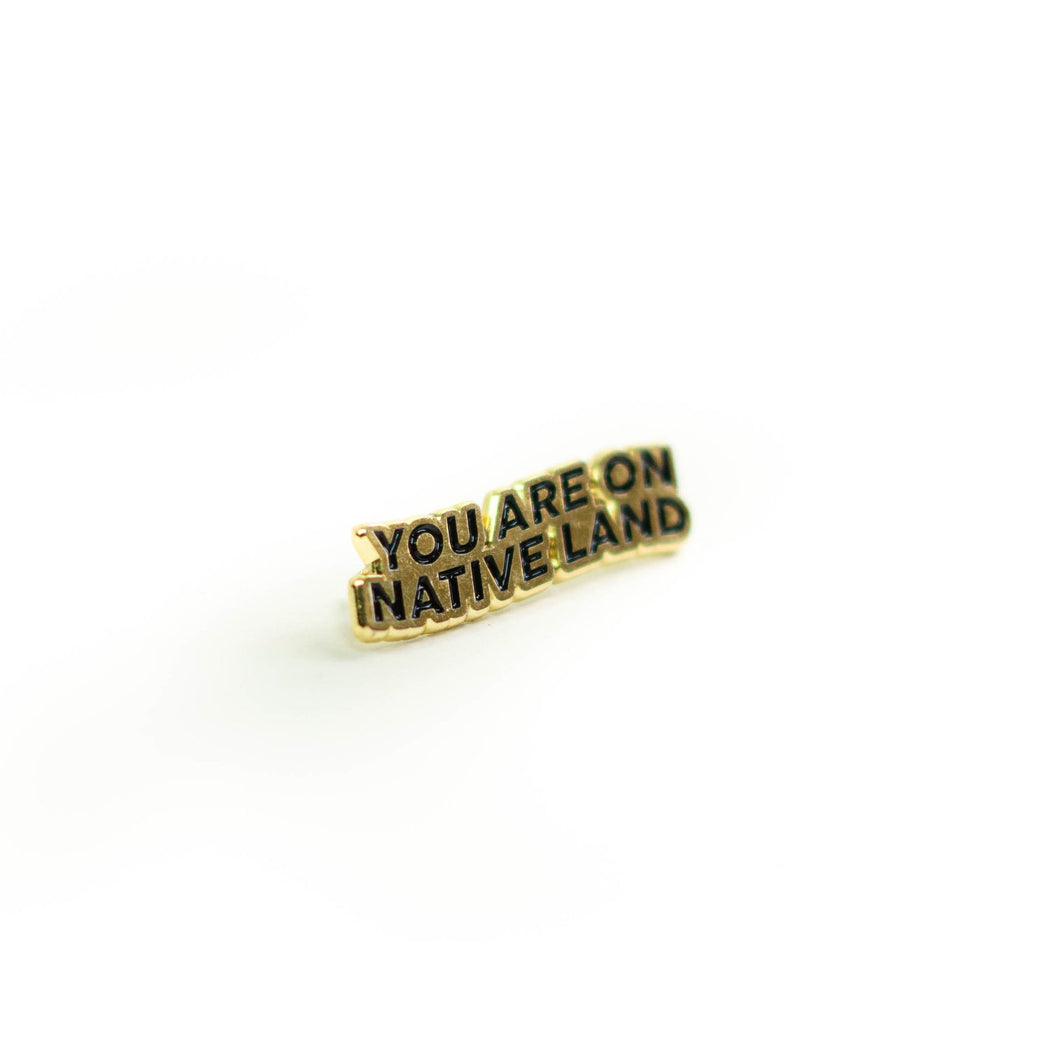 You Are on Native Land Pin