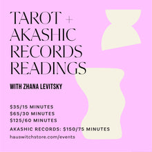 Load image into Gallery viewer, TAROT + AKASHIC RECORDS READINGS