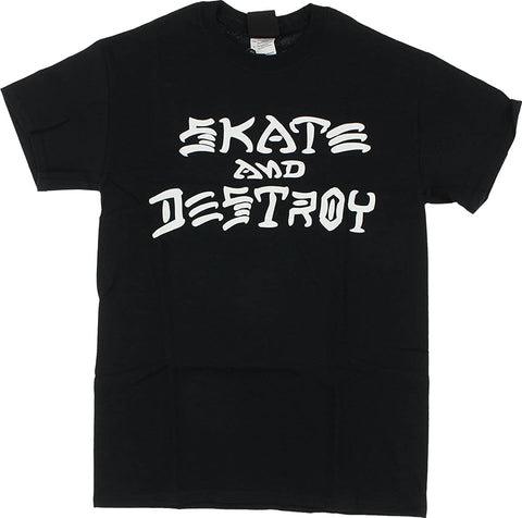 Trasher Skate and Destroy Black Tee