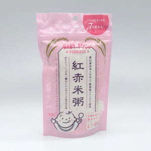 【BABY FOOD】Beniakamaigayu (紅赤米粥)  Porridge for Baby (pre-heated rice powder)【80g Stand-Pack with zipper】