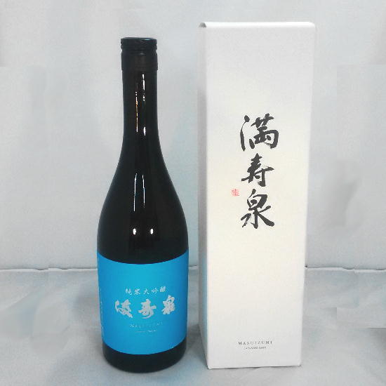 Japanese SAKE MASUIZUMI (Tateyama-machi:purely Rice Brewing:ZYUNMAI-DAI-GINZYOU)Made in Japan,from Toyama city (720 ml with BOX)
