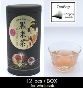 【12pcs/BOX】Black Rice Tea <10pcs tea bags in canister>