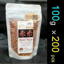 【100g package * 200pcs / BOX】Red rice (Ancient rice) packaging with zipper