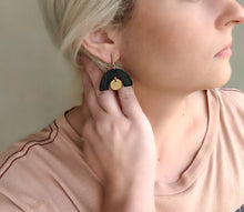 Load image into Gallery viewer, BLACK + GOLD EARRINGS