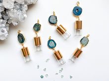 Load image into Gallery viewer, BLUES | DAINTY GEODE Roller Bottle Necklace