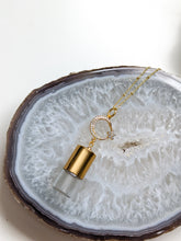 Load image into Gallery viewer, CRESCENT MOON + STAR ROLLER BOTTLE NECKLACE