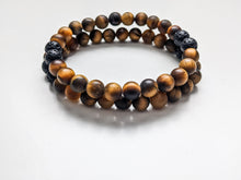 Load image into Gallery viewer, MATTE TIGERS EYE | Mens Diffuser Bracelet