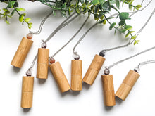 Load image into Gallery viewer, FLORAL COLLECTION | BAMBOO + GARDEN QUARTZ ROLLER BOTTLE NECKLACE