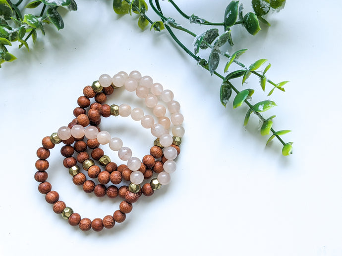 PEACH CHALCEDONY DIFFUSER BRACELET