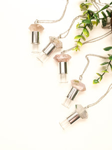 FLORAL COLLECTION | CHERRY BLOSSOM AGATE ROLLER BOTTLE NECKLACE