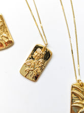 Load image into Gallery viewer, FLORAL COLLECTION  | FLOWER MEDALLION GOLD FILL DIFFUSER NECKLACE
