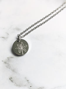 FLORAL COLLECTION | DAINTY FLORAL DIFFUSER NECKLACE