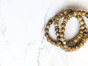 DARK SANDALWOOD DIFFUSER BRACELET WRAP / NECKLACE