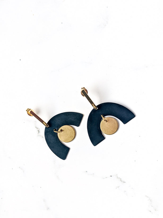 BLACK + GOLD EARRINGS