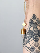 Load image into Gallery viewer, DAINTY HEXAGON | ROLLER BOTTLE NECKLACE