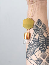 Load image into Gallery viewer, HEXAGON | ROLLER BOTTLE NECKLACE