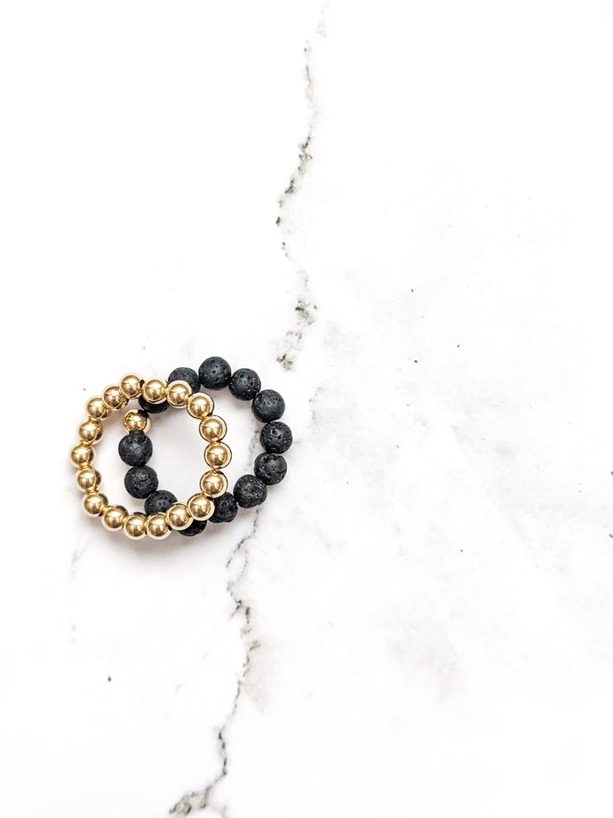 GOLD FILL | STACKER RING SET