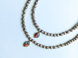 SPINY OYSTER TURQUOISE + COPPER MATRIX | THE BEADED NECKLACE