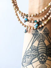 Load image into Gallery viewer, PINK OPAL / TURQUOISE + COPPER MATRIX | THE BEADED CHOKER