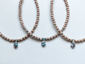 PINK OPAL / TURQUOISE + COPPER MATRIX | THE BEADED CHOKER