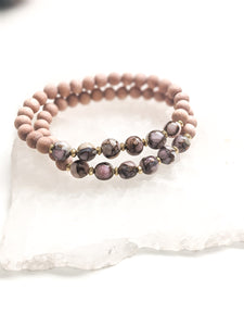 PINK OPAL W/ COPPER | ROSEWOOD DIFFUSER BRACELET