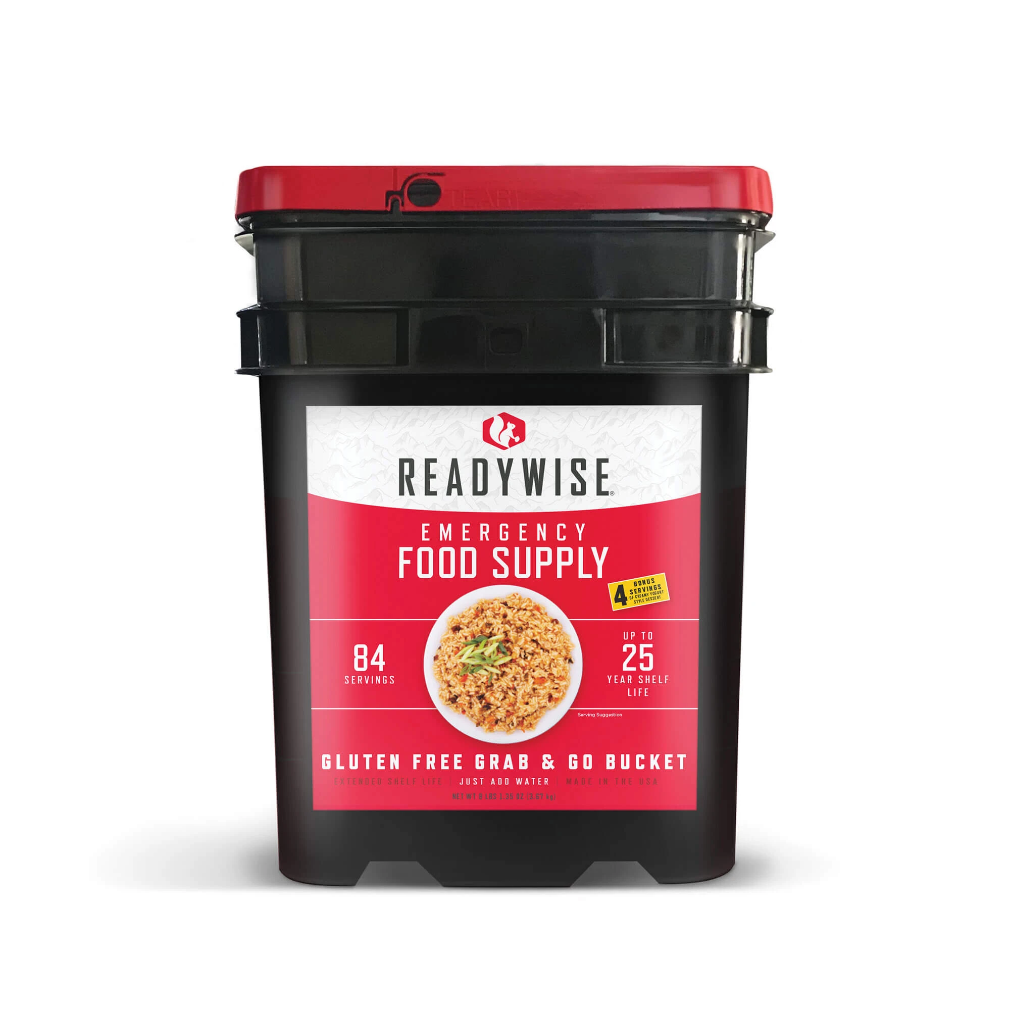 84 Serving Gluten Free Grab and Go Bucket- Free Shipping