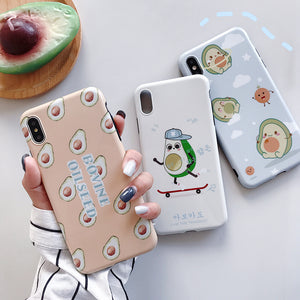 Kawaii Iphone Avocado Phone Case