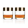 Bronze Rim Crystal Tumblers by Viski® - Organic World Nation