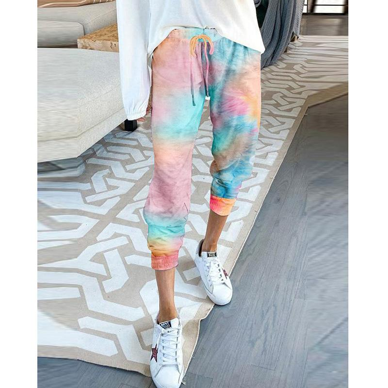 Women Casual Loose Tie-dye Sports Pants - Organic World Nation