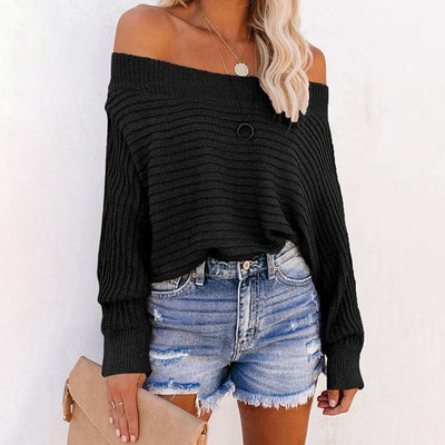 Off Shoulder Batwing Sleeve Knitwear - Organic World Nation