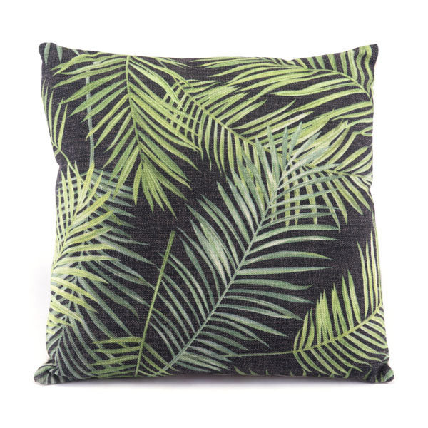 "17.7"" X 17.7"" X 1.2"" Tropical Black And Green - Organic World Nation"