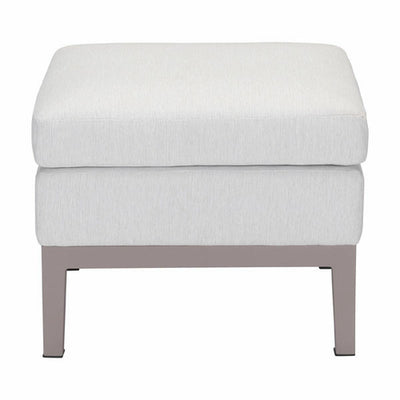 "22.6"" X 22.6"" X 18.5"" Champagne White Ottoman - Organic World Nation"