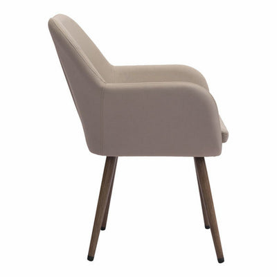 "25.5"" X 26.5"" X 34.5"" Taupe Sunproof Fabric Dining Chair - Organic World Nation"