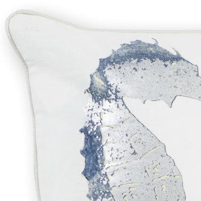 "18"" x 18"" Cotton Silver Pillow - Organic World Nation"