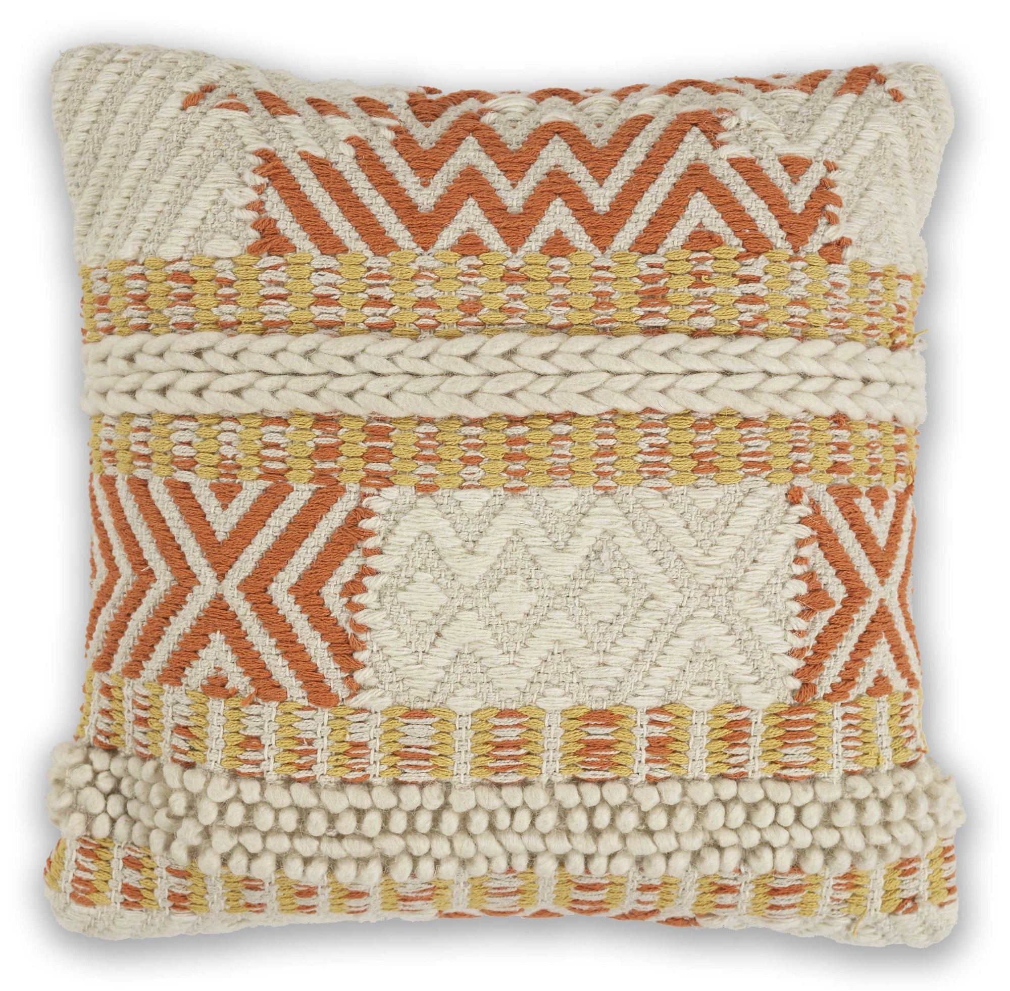 "18"" x 18"" Wool Ivory Pillow - Organic World Nation"