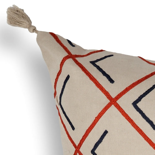 "20"" x 20""  Tangerine Pillow - Organic World Nation"
