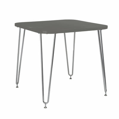 "31.5"" X 31.5"" X 30"" Gray Melamine over Particle Board Activity Table - Organic World Nation"