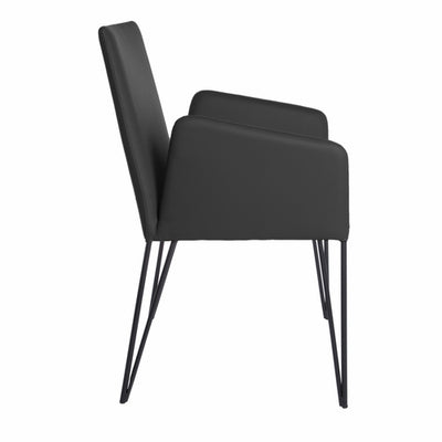 "22.45"" X 23.04"" X 35.63"" Black Leatherette over Foam Arm Chair - Organic World Nation"