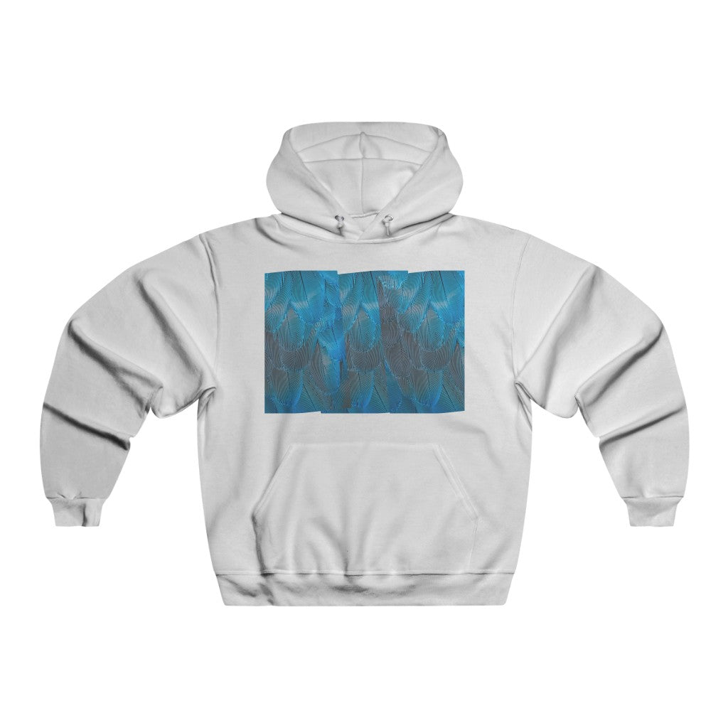 Blue feathers Men's NUBLEND® Hooded Sweatshirt - Organic World Nation