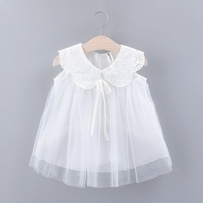 Cute Lace Collar Tulle Dress - Organic World Nation