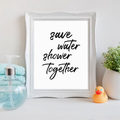 Funny Bathroom Quote Canvas Art Prints and Poster - Organic World Nation