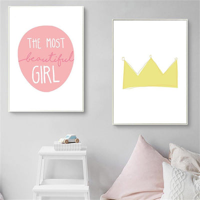 Baby Girl Nursery Wall Art Canvas - Organic World Nation