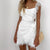 Elegant White Lace Crochet Sexy Bow Tie Backless Bodycon Party Dresses - Organic World Nation