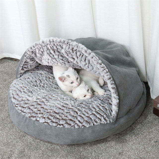 Luxury Pet Dog Bed Round House Super Warm Soft - Organic World Nation