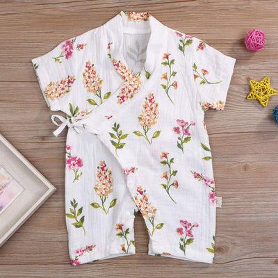 Newborn Infant Baby Boys Girls Short Sleeve Print - Organic World Nation