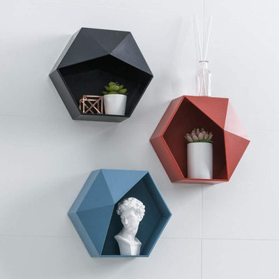 Geometric Floating Shelf - Organic World Nation