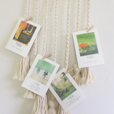 Hanging Woven Photo Rope - Organic World Nation