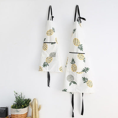 Pineapple Print Cotton Apron - Organic World Nation