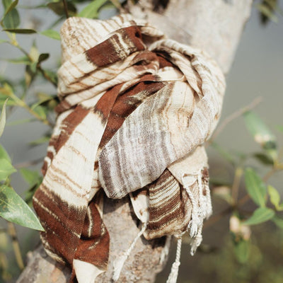 Handwoven Cotton Scarf - Organic World Nation