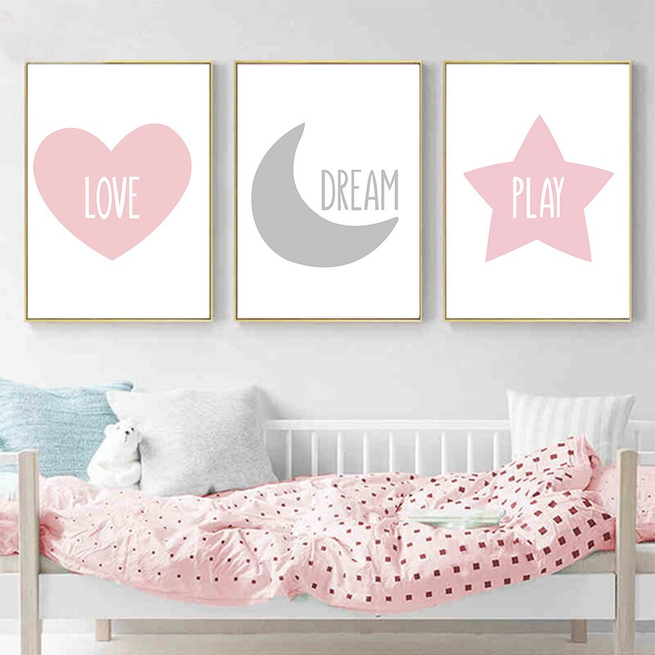 Sweet Modern Baby Quotes Posters Print Love Dream - Organic World Nation
